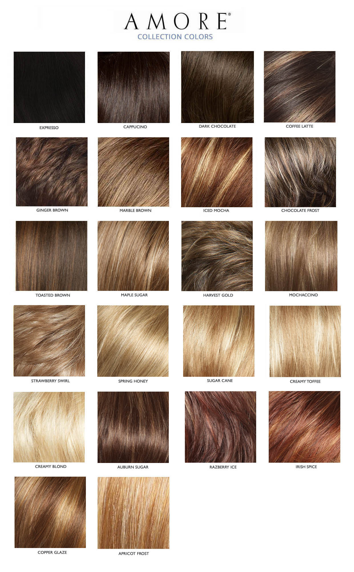 AMORE TATUM HAIR COLORS