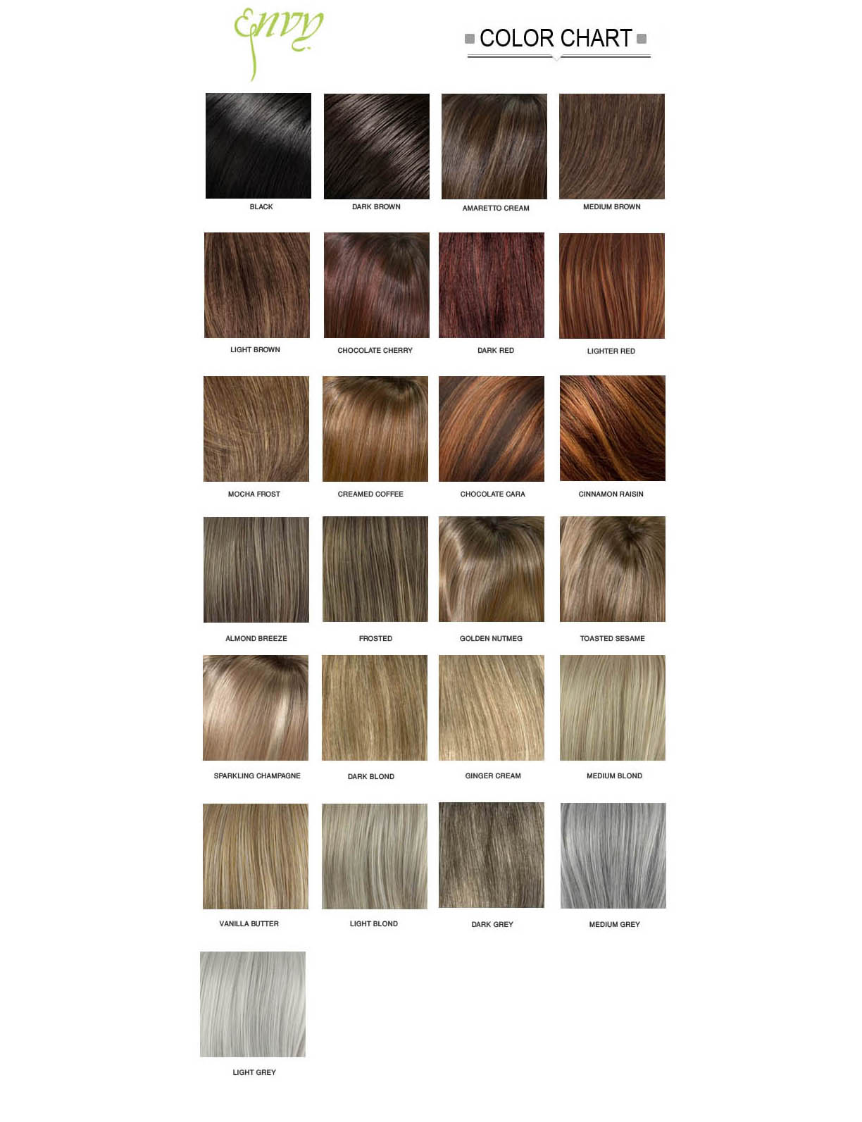 envy wig hair color chart