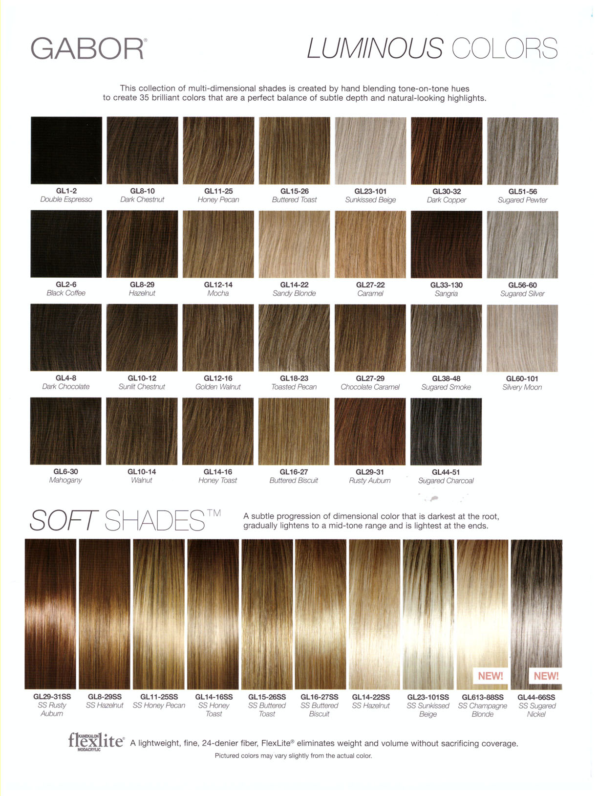 GABOR HAIR COLOR CHART