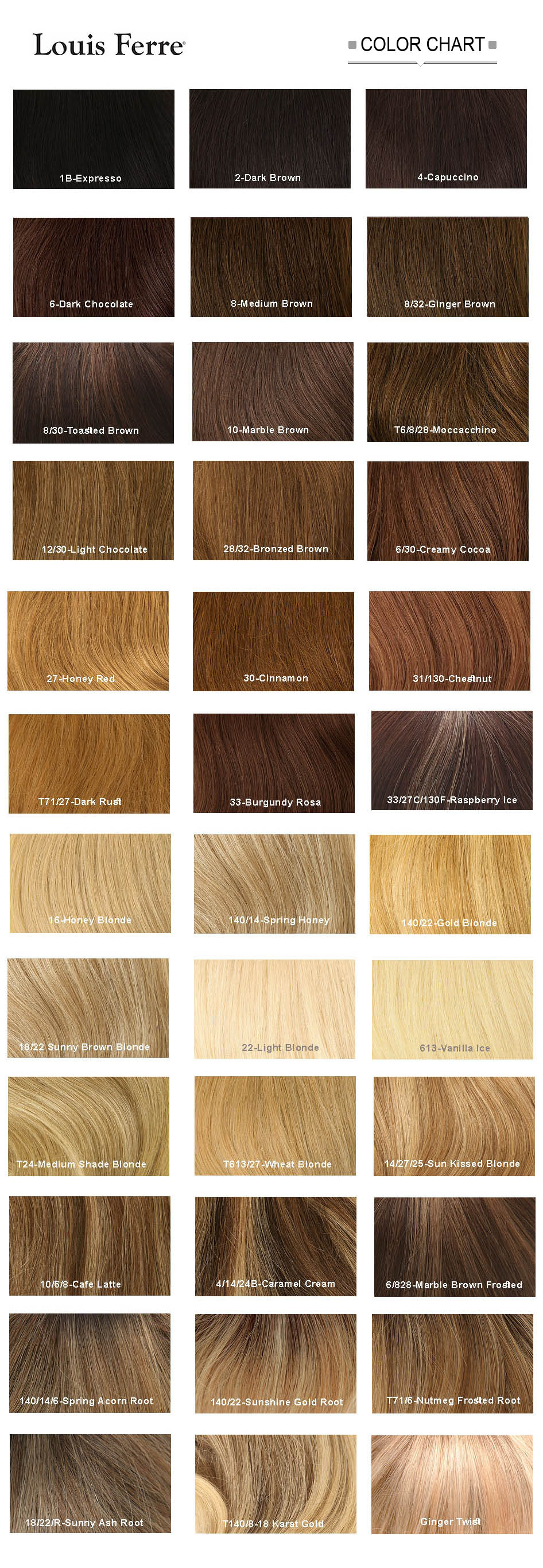 louis ferre hair color chart