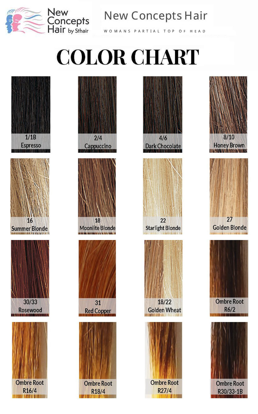 NEW CONCEPTS HAIR COLOR CHART