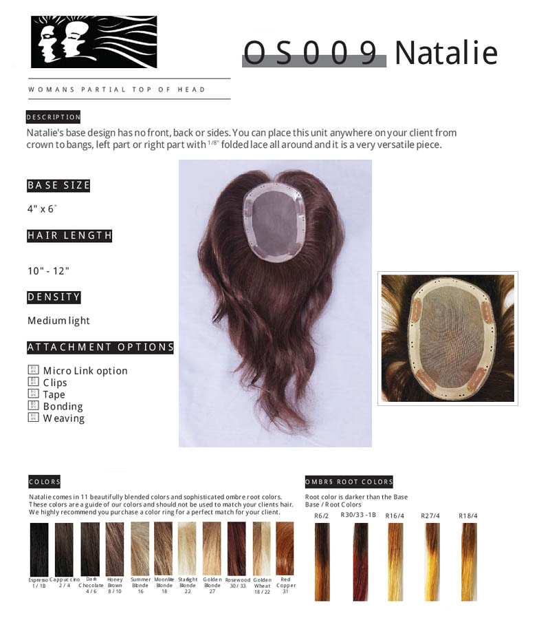NEW CONCEPTS NATALIE HAIR PIECES