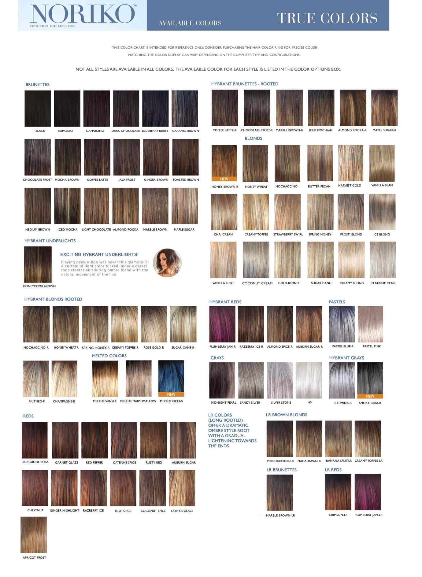 noriko hair color chart
