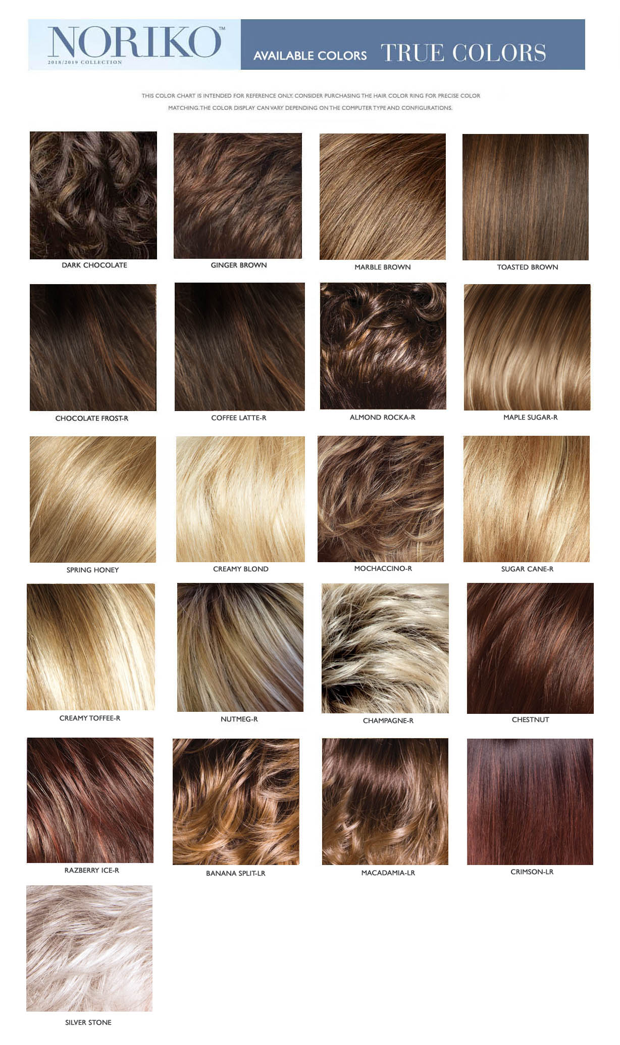 NORIKO DOLCE COLOR CHART