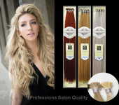 ITip Keratin Euro Silky Textured Preglued Hair - Tube Application (Deluxe Pkg - 120 pcs) GRD5+ - Human Hair Preglued - Professional Product - Hair Couture