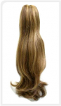 Remy Silky Straight Human Hair Ponytail - Vecro Wrap or Velcro Band Attachment - The Hair Shop