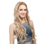 DIY J Set 4 Pcs. Skin Weft Clip On Extensions - Heat Style Synthetic Fiber Hair - Supreme