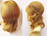 Christina European French Part Full Wig - 100% Human Hair - New Concepts - Professional/Specialty