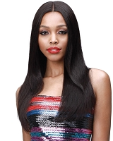 MHLF308 Eudora - Lace Front  %100 Virgin Remi Human Hair Wig - Natural Black - Bobbi Boss