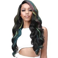 Bobbi Boss MBLF004  - London Human Hair Blend Lace Front Wig