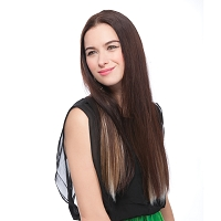 Ultima® Prota European Silky Straight - 8pcs. Clip On Extensions - Heat Style Synthetic Fiber Hair - Supreme