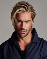 Daring -  Temple-to-Temple Hand-Tied Monofilament Part Excelle® Synthetic  Hair Wig for Men - Him Men's Wig Collection