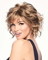 Fresh Chic - Tempple-toTemple Lace Front Monofilament Part - Synthetic Hair Wig - Gabor
