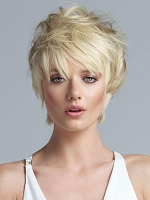 Short Top Hairpiece -  Color 56R Silver Grey - How Collection by Tabatha Coffey - Lux Hair - CLEARANCE