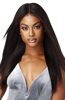 Outre Natural Straight Human Hair Lace Wig - 100% Fully Hand-Tied Lace Wig - Outre