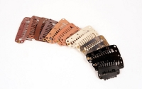 Pressure Sensitive Hair Clips for Wefted Hair Extension or Toupees 20 pcs. Pack