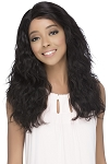 Amelia - 100% Natural Brazilian Remi Human Hair Lace Front Invisible Part Wig - Vivica Fox