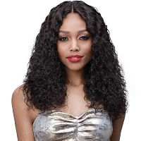 MHLF309 Phyllis - Lace Front  %100 Virgin Remi Human Hair Wig - Natural Black - Bobbi Boss