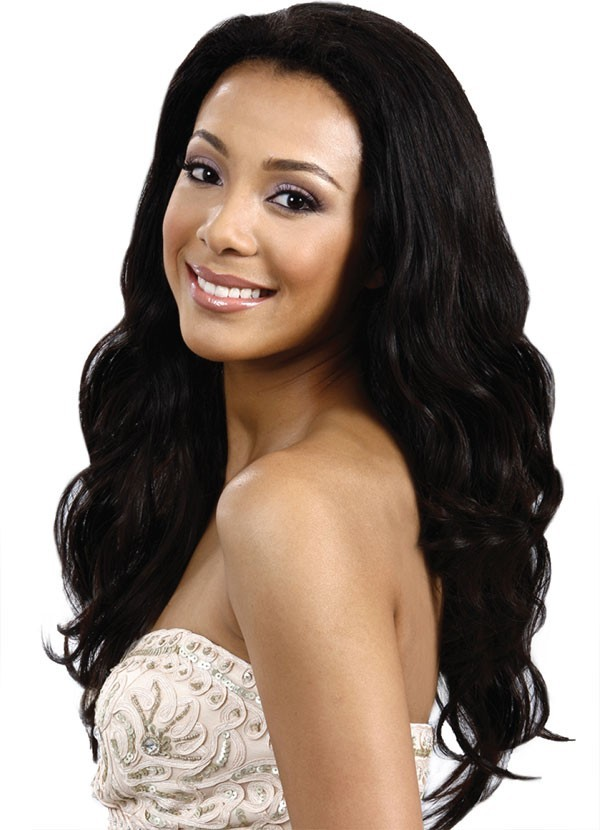 Francesa - Luxury 100% Hand-Tied Remi Human Hair Wig - Natural Black Devotions Collection - Bobbi Boss