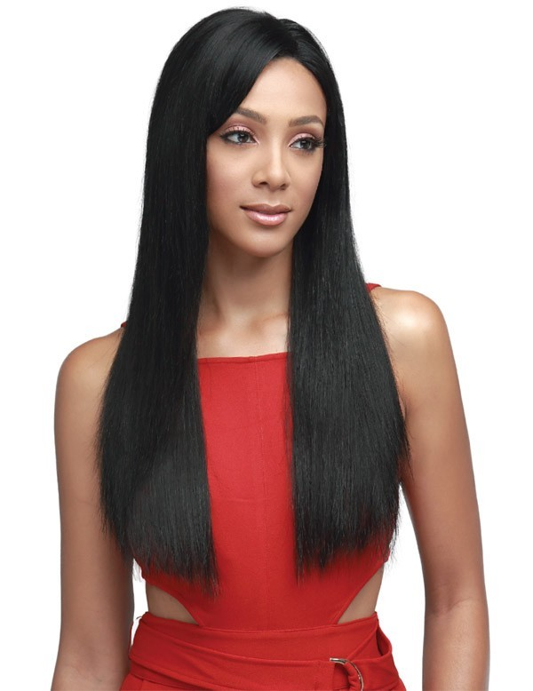 "BOBBI BOSS MHRLF008 NATURAL SILKY STRAIGHT 13""X4"" LACE FRONT WIG"