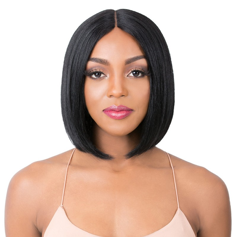 HH S WET N WAVY AMAL DEEP LACE PART HUMAN HAIR  WIG  - IT'S A WIG