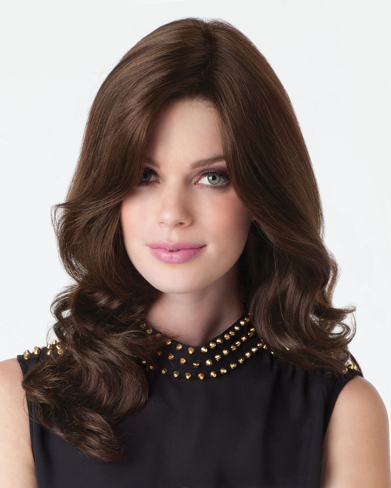 CHARLOTTE COLOR A8 - LACE FRONT MONOFILAMENT TOP 100% HUMAN HAIR WIG - AMORE