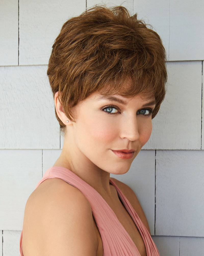 AMORE DIXIE 2521 MONOFILAMENT WIG - LIGHT CHOCOLATE - AMORE