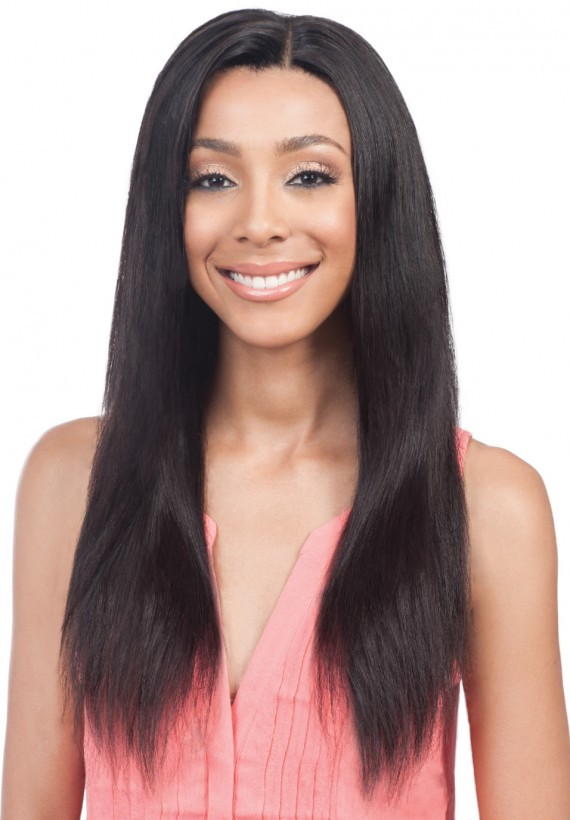 MHDVL002 Straight  - Extra Long Luxury Remi Unprocessed Virgin Human Hair Wig -  Natural Black - Devotions Limited Collection - Bobbi Boss