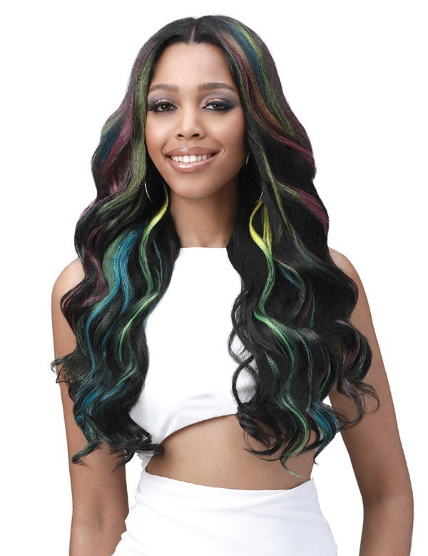 MBLF004 LONDON HUMAN HAIR BLEND WIDE LACE FRONT WIG - BOBBI BOSS