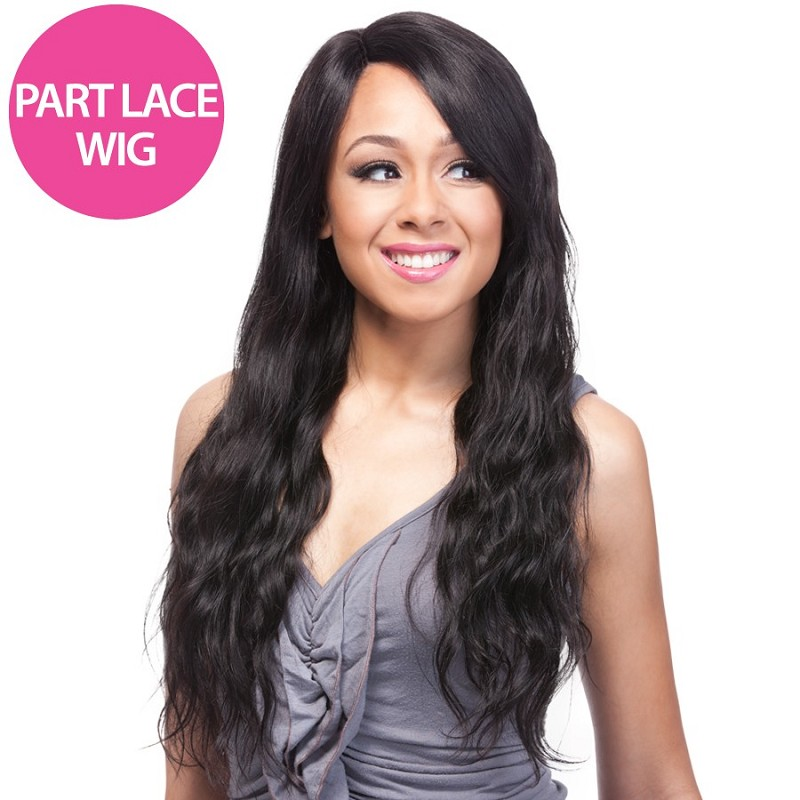 "HH PART LACE NATURAL WAVE 24"" BRAZILIAN REMI HUMAN HAIR WIG - IT'S A WIG"