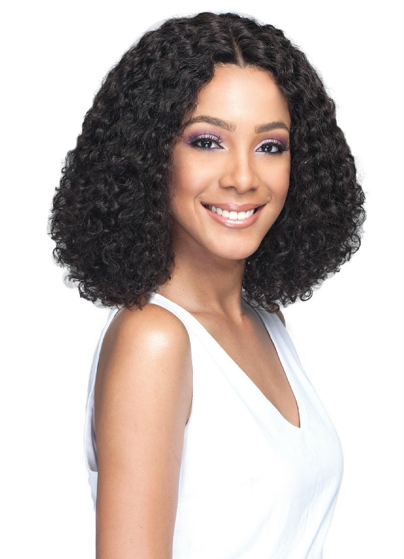 "MHLF803 NATAKI 5"" DEEP LACE PART SWISS LACE FRONT HUMAN HAIR WIG - BOBBI BOSS"