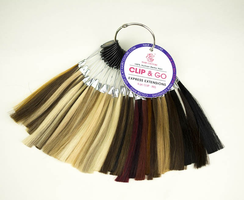 Hair Color Ring - Hair Couture - Clip-N-Go/Cream Clip-In Hair Extensions GRD5+ - PROFESSIONAL PRODUCT - Hair Couture