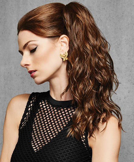 "Hair Do - 18"" Simply Curly Claw Clip - Heat Style Synthetic Hair Ponytail - Hairdo"