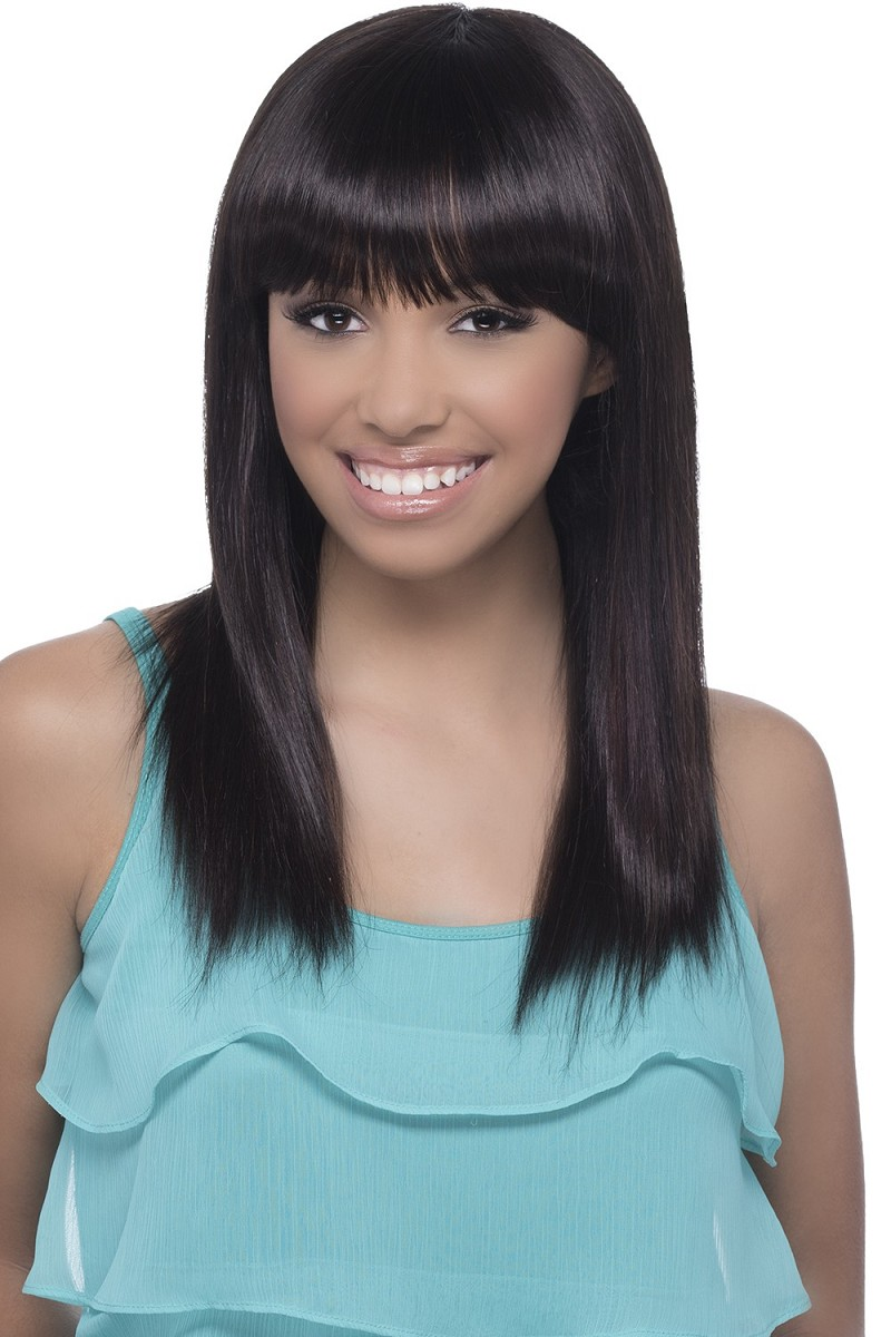 Elma - Natural Brazilian Remi Invisible Lace Part Wig Brazilian Swiss -Human Hair Wig - Vivica Fox
